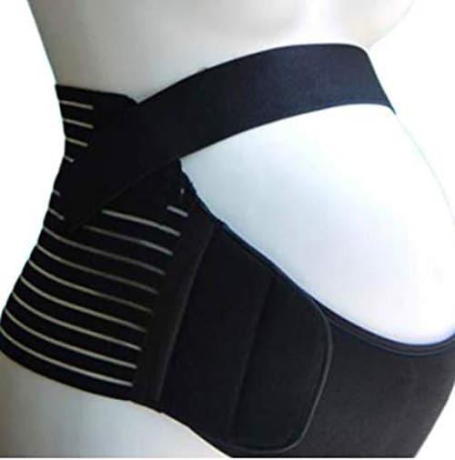 Faja de maternidad de excelente calidad. Cinturon para la espalda en el embarazo. Soporte lumbar prenatal. Ayuda con dolores de lumbares de espalda, cadera de la zona pelvica y de abdomen. (MED/GDE, Negro)
