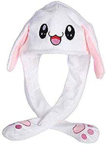 Divertido gorro de conejo para fiestas de disfraces, cosplay, juguetes, regalo interesante, juguetes divertidos para niñas y niños con tapa de airbag de felpa 2019