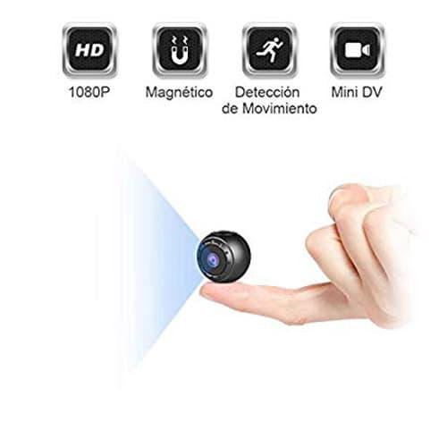 ZZCP Mini Camara Espia Oculta, HD 1080P Portátil Camaras de Seguridad Inalambricas Videocamara Discretas con Vision Nocturna Detección de Movimiento, Interior/Exterior Pequeñas Cámaras de Vigilancia