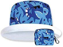 Sombrero de Sol Proteccion Solar para Niños Modelo Tiburones UPF 50+ Protege de LLuvia y Sol