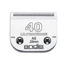 """Andis, Accesorio para Cortador de Pelo Ultra Edge, Talla 40: 1/100"""" (0.25 mm), Plateado"""
