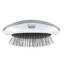 Masaje eléctrico peine con iónico, negativos y terapia de vibración, cepillo antiestático de plancha de masaje magnética para masaje de cuero cabelludo promueve el crecimiento del cabello(azul)