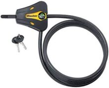 Master Lock 8419DPF Python Adjustable Locking Cable, Braided Steel, Yellow and Black Contractor Color, 6-Feet x 5/16-inch