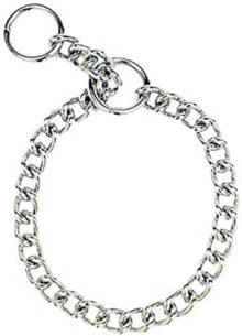 Herm Sprenger collar de acero para perro, 4,0 mm x 55,88 cm, collar para perro se acopla a la mayoría de correas de perro, collar de entrenamiento para perros, accesorios esenciales para perros y suministros para perros