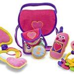 Melissa & Doug Set de suave y linda cartera de juego para llenar-y-vaciar (juguete para niño pequeño)