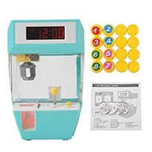 Mini 2 En 1 Juguete Electrónico de Garra y Pantalla LCD Reloj Despertador Máquina Grabber Cumpleaños Regalos de Navidad para Niños Niños Pequeños(Verde)