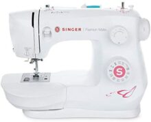 SINGER Fashion Mate 3333 Máquina de coser de brazo última intervensión, incluye 23 puntadas integradas, ojal de 4 pasos, enhebrador automático de aguja, luz LED, perfecta para coser todo tipo de telas con facilidad