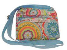 Bolsa Sofi Xikapil Flor Azul, bolso bandolera cruzada mujer