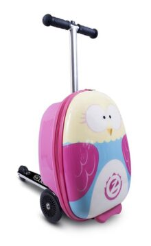 ZincFlyte Kid's Luggage Scooter, Olivia the Owl, 18""