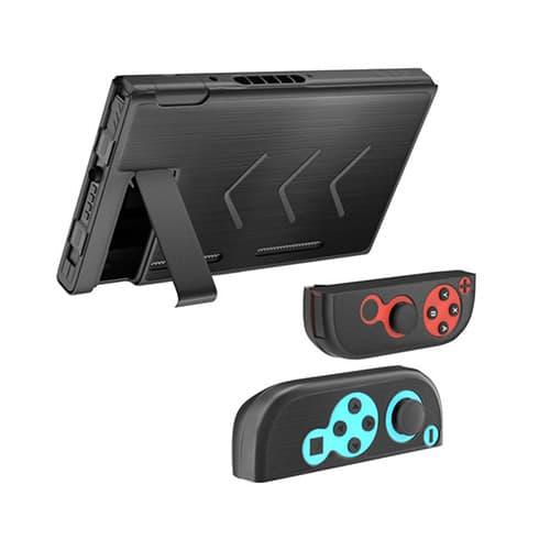 Redlemon Funda para Nintendo Switch y Joy-con de Aluminio, Resistente a Golpes y Rayones, Ergonómica. Negro