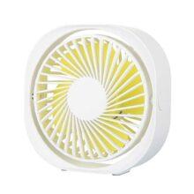 CARSINEL Ventilador de Escritorio USB,3 Niveles de Velocidad del Viento,Ajustable,Mini Ventilador portátil,Potente Ventilador Ultra silencioso,Adecuado para Familia/Oficina/Estudio/Viaje (Blanco)