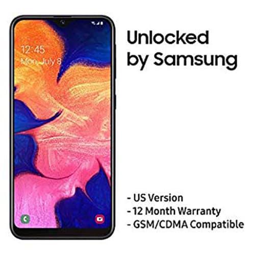 Samsung Galaxy A50 Version para EE. UU. - Teléfono celular desbloqueado de fábrica con 64 GB de memoria y pantalla de 6.4 pulgadas, color negro, [SM-A505UZKNXAA], A10e., Negro