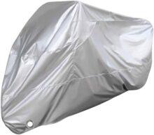 Protector contra el polvo para motocicletas, Bantoye XL Impermeable Cubre el almacenamiento de los motores, Adecuado para la mayoría de las motocicletas, Plateado