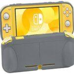 Sixcloud Funda Transparente para Nintendo Switch Lite 2019, Carcasa TPU/Case Anti-caída, Anti-Choque, Antideslizante Rasguño Resistente con Forro de Microfibra Suave para Protección (Gris)