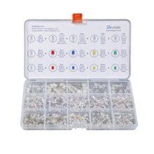 ELEGOO 3mm y 5mm Diffused y Clear Assorted LED Diodos Kit 5 Colores para Arduino UNO R3 (Paquete de 350)