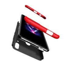 BIKANA Funda Compatible para Huawei Y9 Prime 2019/Psmart Z Carcasa,[1*Micas Cristal] 3 en 1 360°Full-Protección PC Rígida Textura Antichoque Antideslizante Anti-caída Caso Protectora-Rojo Negro