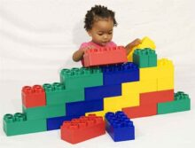 Kids Adventure 24pc Jumbo Blocks - Beginner Set (Made in The USA)