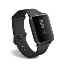 Amazfit Bip Smartwatch de Huami con frecuencia cardíaca Todo el día y Seguimiento de Actividad, monitorización del sueño, GPS, batería de Larga duración, Bluetooth, Servicio de EE. UU.  (A1608 Negro)