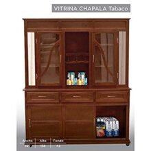 HOME DESIGN Vitrina Modelo Chapala - Tabaco