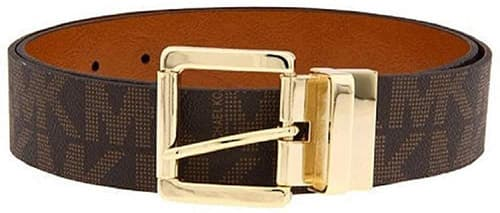 Michael Kors - Cinturón reversible para mujer, color café