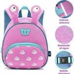 HomeChi Mochila para Niños Pequeños, Niños Mochilas para niños Bolsas para niños 3D Cute Cartoon Snail Animal Impermeable Pañales Bolsa Perfecto para preescolar Kindergarten Niñas 1-3 años