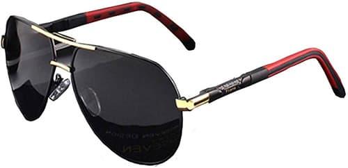 Lentes Gafas de Sol Polarizadas Frank Eyewear con Marco de Aluminio TR90 Aviador Rojo Dorado Polarizados reflejado Lentes Clásico Gafas de Sol Gafas con Clip [Anti reflejante] Protección UV, para Conducción/Pesca, Unisex (Hombres y Mujeres)