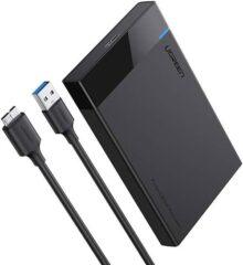 UGREEN Carcasa de Disco Duro, Caja de Disco Duro USB 3.0 con UASP Integrado, Compatible con 2.5'' HDD SSD SATA I/II/III de 7mm 9.5mm, 6TB MAX con 30CM Cable Extraíble