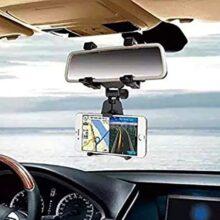 CONTOYSA Soporte Universal para Celular De Auto Espejo para Smartphone, iPhone, Samsung, LG