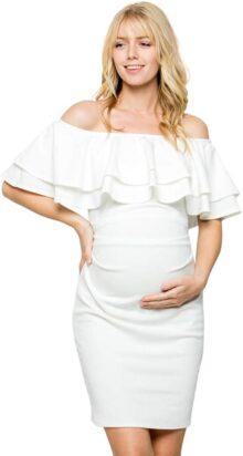My Bump - Vestido de Maternidad con Volantes de Doble Capa