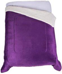 Colchas Concord WK3MUT Cobertor de Borrega Artemisa, Matrimonial, Morado