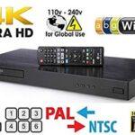 Dynastar LG 4K Region Free Smart WiFi UHD 4K Ultra HD Reproductor de BLU-Ray & DVD Multi región 3D Dolby Vision HDR & 6Ft Cable HDMI Modelo UBKM9