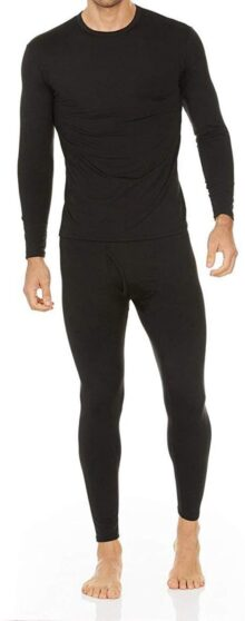 Moet Fashion De los Hombres Ultra Suave Ropa Interior térmico Long Johns Set con Forro Polar