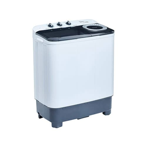 Midea MLTT11M2NUBW Lavadora Semiautomática, color Blanco, 2 Tinas, 11 kg Lavado/7.8 kg Centrifugado