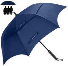 EMAGIE Paraguas de Golf Pro-Line de Largo Resistente al Viento construcción de Fibra de Vidrio Flexible Ligero y Resistente al Agua Paraguas de Gran tamaño