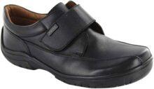 Audaz Zapatos Escolares para Niño Fabricados En Piel Color Negro con Ajuste En Velcro