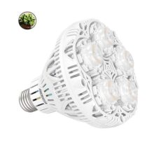 SANSI - foco LED de 24 W de espectro completo LED para plantas de interior, foco de luz de cultivo E26 para invernadero hidropónico, plantas de hogar, tabaco vegetal, luz solar blanca UV IR