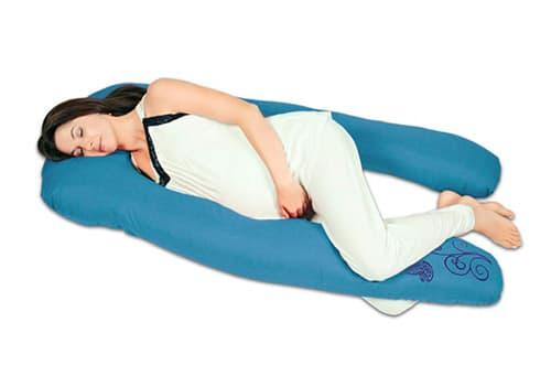 """Almohada de embarazo y lactancia""""Herradura"""" (Relleno Importado) - Cojín maternidad (Azul Turquesa)"""