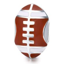 Reiko Fútbol Deporte Atleta Abalorios de Plata de Ley 925,Colgante y Dijes para Pulseras Pandora&Chamilia,Originales Charms para Collares