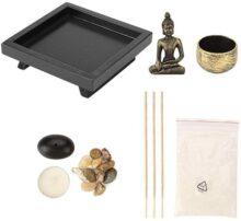 YD50 Tablero Buda Zen Jardín Bronce Vintage Incienso Quemador de incienso Quemador de incienso Tablero, Incienso Stick Holder para el regalo de la decoración del hogar, Meditación Relax