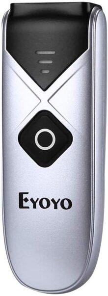Eyoyo Escáner de Código de Barras,Mini 1D CCD con USB Cable /Bluetooth/ 2.4G Inalámbrica Conexión Escáner de Imagen Portátil Soporte CCD Escaneo de Pantalla para iPad, iPhone, Android, Tablets, PC (EY-015 CCD)