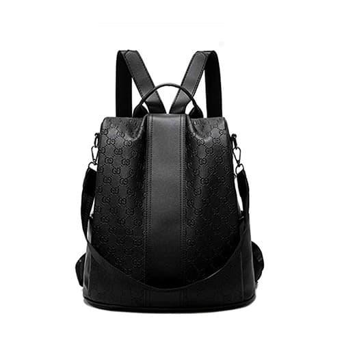 NALA Casual Antirrobo Mochila para Mujer, Portatil Impermeable Daypack Mochilas Bolsa De Viaje, PU Cuero Señora Convertible Mochila Bolsa Bolso de Hombro Escolar