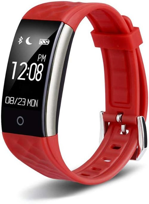 Redlemon Smartwatch Pulsera Inteligente Deportiva con Podómetro, Monitor Cardiaco, Contador de Calorías y Distancia, Notificación de Llamadas, Redes Sociales, Mensajería, Resistente al Agua. Rojo