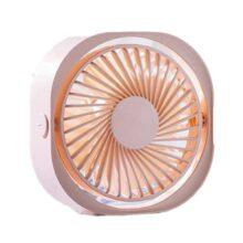 CARSINEL Ventilador de Escritorio USB,3 Niveles de Velocidad del Viento,Ajustable,Mini Ventilador portátil,Potente Ventilador Ultra silencioso,Adecuado para Familia/Oficina/Estudio/Viaje (Rosa)
