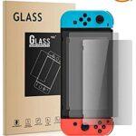 Athelain Nintendo Switch Protector de Pantalla - 2 Unidades Cristal Vidrio Templado 9H Dureza Screen Protector Film para Nintendo Switch