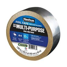Nashua Aluminum Multi-Purpose Foil Tape, 3.2 mil Thick, Aluminio, 46 m Length