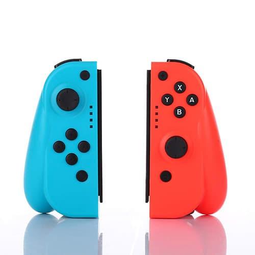 CuleedTec NS Switch Controles con Giroscopio y Sensor de Gravedad, Controles Izquierdo y Derecho Compatibles con Nintendo Switch Como Reemplazo de los Controles Joycon - Azul/Rojo