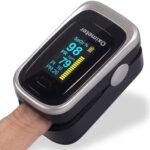 E T EASYTAO 4 en 1 Oxímetro de Pulso de Dedo con Pantalla OLED, Monitor Digital de Frecuencia de Respiración RR, Frecuencia Cardíaca PR, Saturación de Oxígeno en Sangre SpO2 e Indice de Perfusión PI