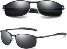 Gafas De Sol Para Hombres Aviador Clásico Marco Metal Lentes De Sol Espejo Polarizadas