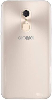 Lolipop Funda Protectora Clear Jelly Case Transparente para Alcatel A3 Plus