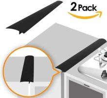 PUBAMALL Estufa de cocina Gap Filler Cover,para estufa, horno, lavadora, secadora, lavadora y más, fácil de limpiar (Negro, 21 pulgadas)